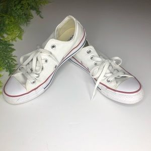 Converse All Star lowtops white size 7